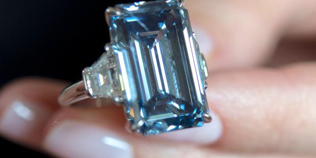 The Oppenheimer Blue diamond. Photo / AP