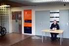 A security guard outside the Wanganui Work and Income office. Photo / File