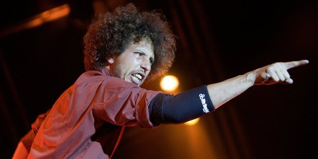 Zach de la Rocha performs with Rage Against the Machine at the 2008 Big Day Out - the last time the band was in New Zealand.
