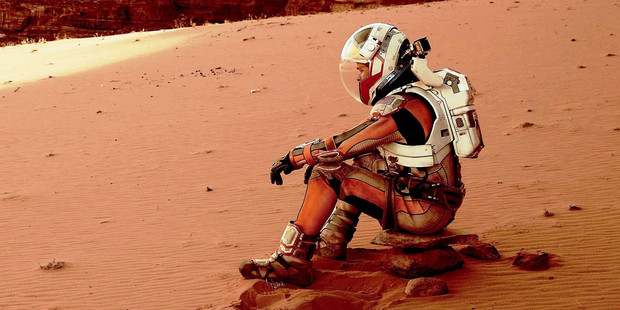 Loading In The Martian, astronaut Mark Watney (played by Matt-Damon) is stranded on Mars.