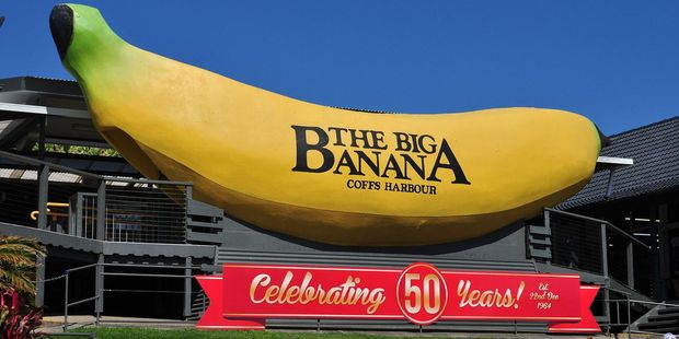 It's amazing that Coffs Harbour's Big Banana hasn't gone brown after all these years. Photo / Wikimedia Commons