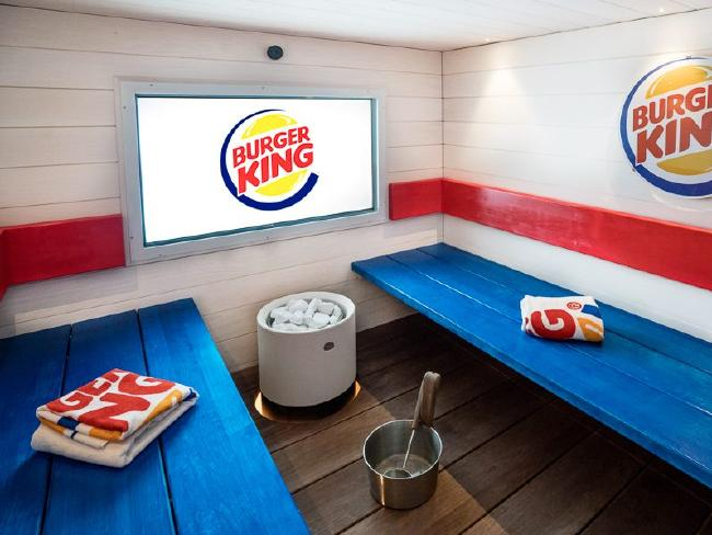 Go get steamy here, in the Burger King sauna. Photo / Facebook
