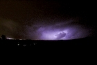 Lightning to north of Auckland about 8pm 16 May 2016 picture supplied Matthew Davison [mailto:matdavison@gmail.com]