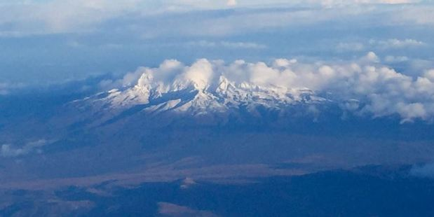 The first signs of winter are apparent on Mt Ruapehu, where snow has fallen.