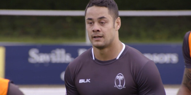 Jarryd Hayne training with the Fiji sevens team. Photo / Twitter