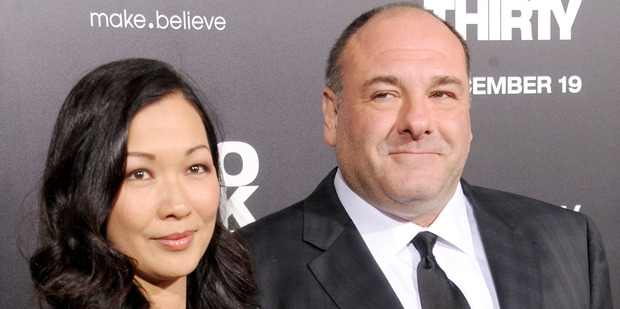 James Gandolfini and his wife Deborah Lin in 2012. The actor died after suffering a heart in Rome in June 2013. Photo / Getty Images
