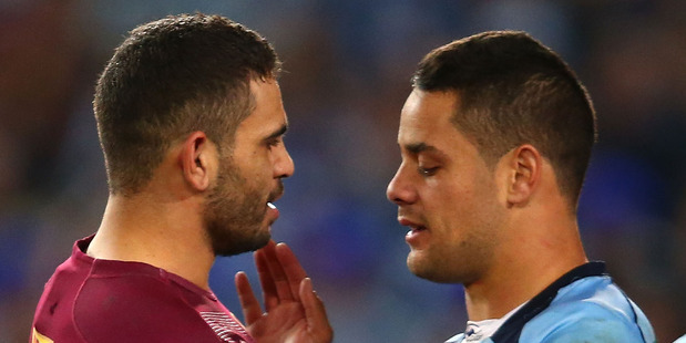Greg Inglis and Jarryd Hayne in State of Origin. Photo / Getty Images
