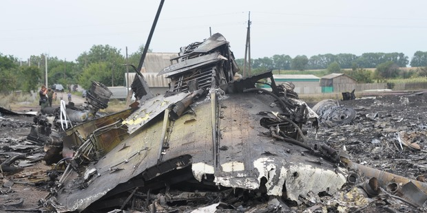 The MH17 crash site. Photo / Getty Images