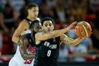 Corey Webster playing for the Tall Blacks against the United States. Photo / Getty Images