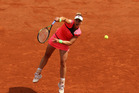 Marina Erakovic during her match against Petra Kvitova at the 2015 French Open. Photo / Getty Images