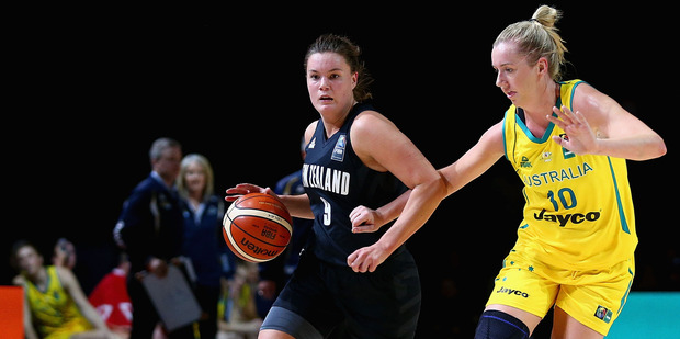 Stella Beck of the Tall Ferns drives to the basket. Photo / Getty Images