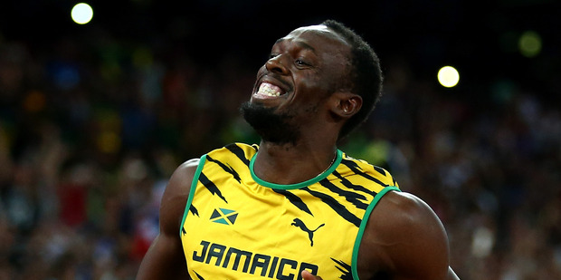 Usain Bolt during day eight of the 15th IAAF World Athletics Championships Beijing. Photo / Getty Images