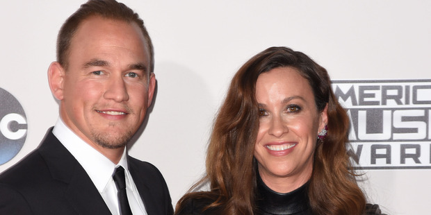 Alanis Morissette and husband Mario Treadway. Photo / Getty Images