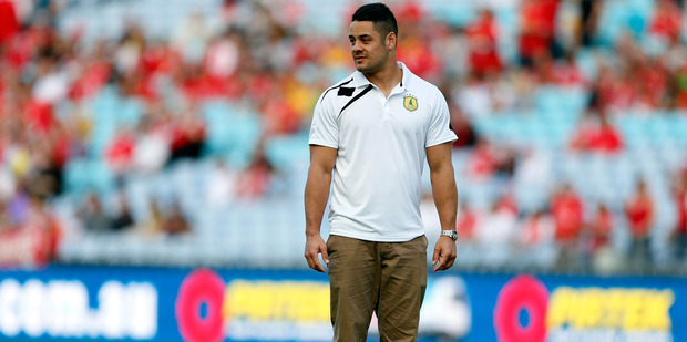 Jarryd Hayne's quick switch from NFL to rugby sevens has made Sir Gordon Tietjens uncertain whether he will make the Olympics. Photo / Getty Images