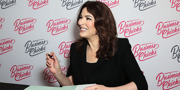 Nigella Lawson signs copies of her book. Photo / Getty Images