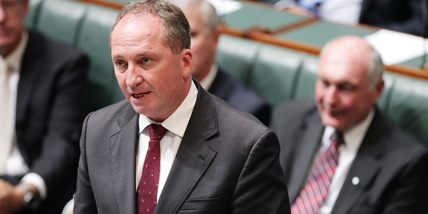 Australian Minister for Agriculture Barnaby Joyce speaks has been called on to provided a better pricing system for farmers. Photo / Getty
