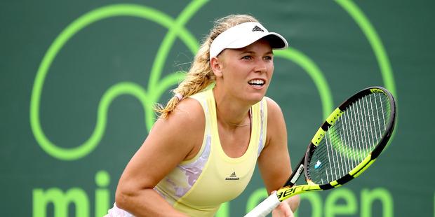 Caroline Wozniacki during the Miami Open. Photo / Getty Images