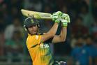 South African AB de Villiers led the charge as Bangalore humbled Gujarat. Photo / Getty Images