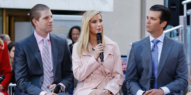 Eric Trump, Ivanka Trump and Donald Trump Jr. Photo / Getty Images