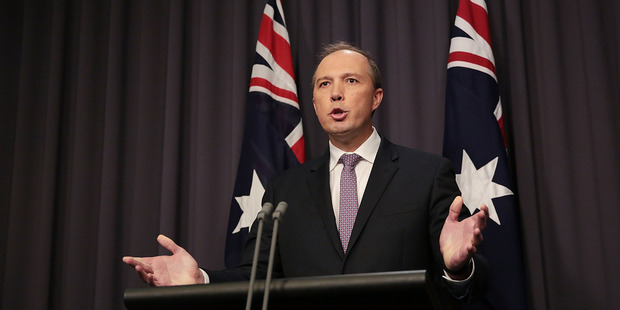 "Peter Dutton said in a television interview: ""These people would be taking Australian jobs, there's no question about that."" Photo / Getty"