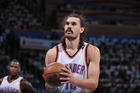 Steven Adams prepares to shoot a free throw against the San Antonio Spurs. Photo / Getty Images