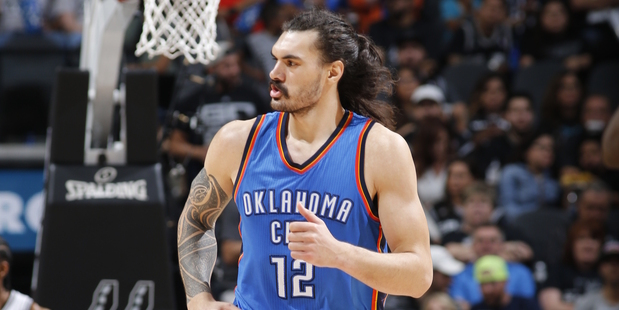 Loading Steven Adams during Game Five against the San Antonio Spurs. Photo / Getty Images