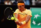 Rafa Nadal in action against Novak Djokovic at The Internazionali BNL d'Italia 2016. Photo / Getty Images