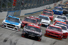 Erik Jones, driver of the #20 Reser's Fine Foods Toyota, leads the field. Photo / Getty Images