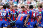 Dejected Newcastle Knights players. Photo / Getty