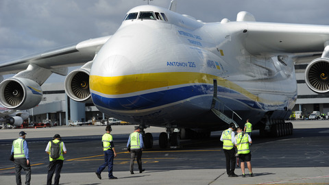 World's largest plane lands in Perth