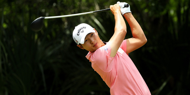 Danny Lee plays a shot during the final round of THE PLAYERS Championship. Photo / Getty Images