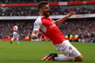 Olivier Giroud scored a hat-trick against Aston Villa to help propel Arsenal ahead of Tottenham to second place in the final English Premier League standings for the 2015/16 season. Photo / Getty