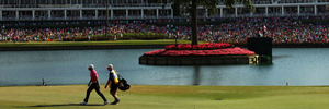 Jason Day on the 16th hole during THE PLAYERS Championship. Photo / Getty Images