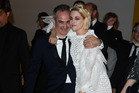 Director Olivier Assayas and actress Kristen Stewart celebrating a successful premiere of Personal Shopper. Photo / Getty Images.