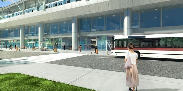 An artist's impression of the West Intermodal transportation facility.