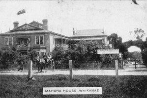 LANDMARK: The former Mahara House, Waikanae. Photo: Alexander Turnbull Library