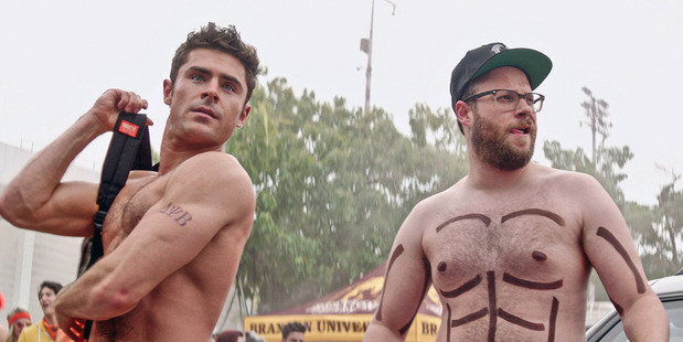 Zac Efron and Seth Rogen in Bad Neighbours 2.