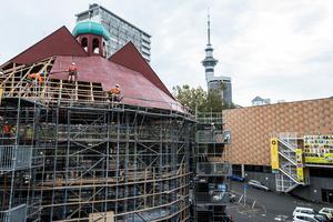 The Pop-Up Globe theatre. Photo / Michael Craig