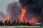 Fire fighters were able to save parts of Fort McMurray, Alberta, Canada. Photo / AP
