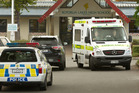 Police and ambulance at Rotorua Lakes High School today.  Photo/Stephen Parker