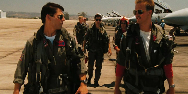 Tom Cruise and Val Kilmer. Photo / Supplied