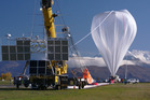 Nasa high-pressure balloon under inflation at the Wanaka aerodrome today before its successful launch. Photo / Supplied