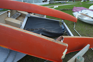 Catamarans and dingys were flipped and damaged in high winds last night along Pilot Bay.