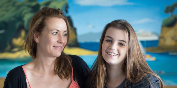 Alexandra Constantine with her daughter Imogen. Photo / Greg Bowker