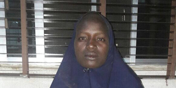 Another rescued Chibok schoolgirl Serah Luka.