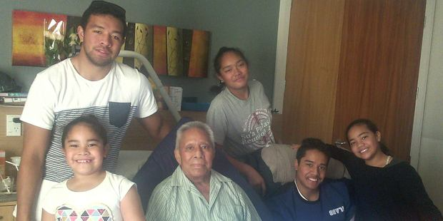 Jordan Ieremia, top left, was reunited with his ailing grandfather, Malo To'oala. Photo / Jordan Iremia
