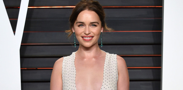 Emilia Clarke had no problems stripping off for the latest episode of Game of Thrones. Photo / AP