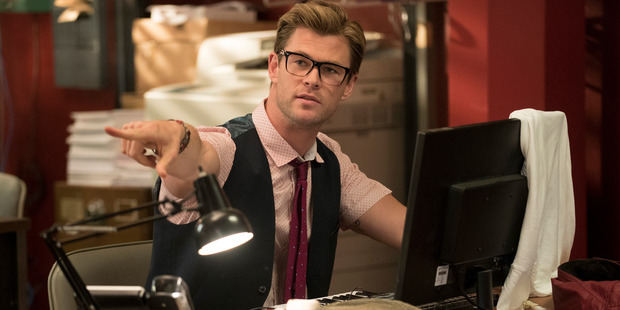 Chris Hemsworth in a scene from Ghostbusters. Photo / AP