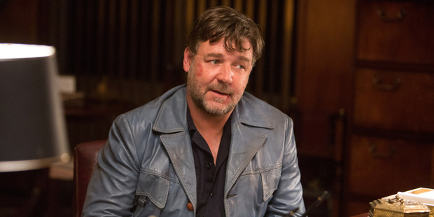 Russell Crowe shows his funny side as a hit man in The Nice Guys. Photo / AP