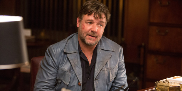 Russell Crowe in a scene from The Nice Guys. Photo / AP